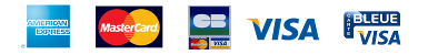 Paiement carte bancaire : Visa, Mastercard, American Express - AMEX